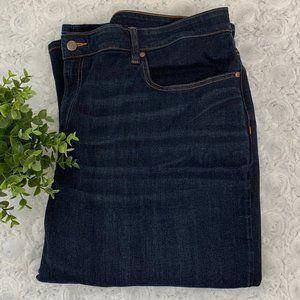 Eileen Fisher Woman | Dark Wash Crop Jeans